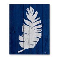 Kavka Designs 16-Inch x 20-Inch Dark Blue Palm 5 Canvas Wall Art