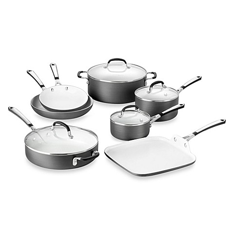 simply calphalon ceramic nonstick 11piece cookware set and open stock