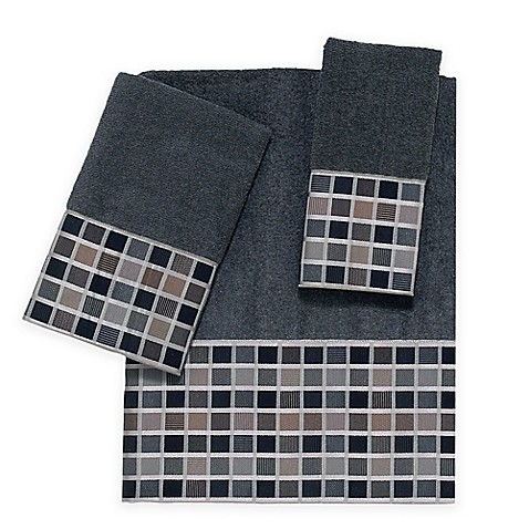 Avanti Kaleidoscope Hand Towel in Granite