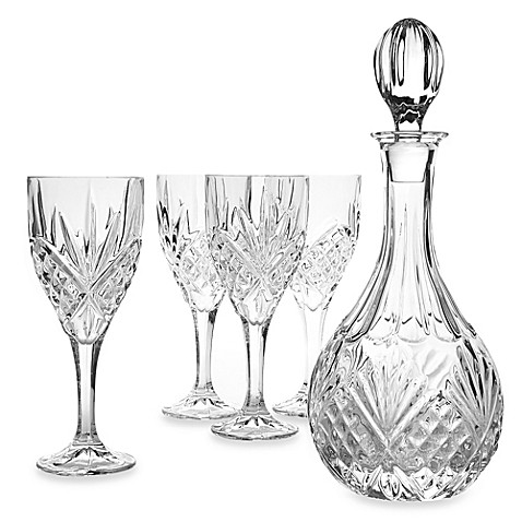 Godinger Dublin Crystal Wine 5 Piece Barware Set Bed