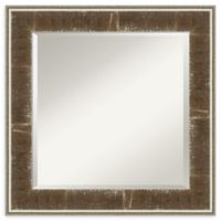 Amanti Art Farmhouse 26-Inch x 26-Inch Wall Mirror in Brown