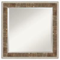 Amanti Art Farmhouse Narrow 24-Inch x 24-Inch Wall Mirror in Brown