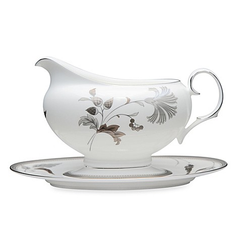 Noritake® Islay Platinum Gravy Boat and Tray
