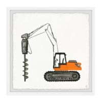 Marmont Hill Drilling Truck 12-Inch Squared Framed Wall Art