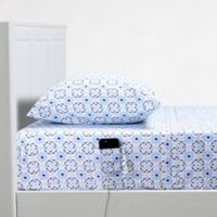 Campus Smart Cotton Kaleidoscope 250-Thread-Count Twin/Twin XL Sheet Set in Blue