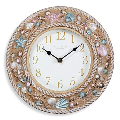 Sterling Amp Noble 10 Inch Beach Wall Clock Bed Bath Amp Beyond