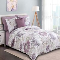 Sienna Reversible King Comforter Set in Purple