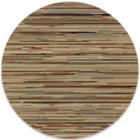 Striation Stripes 63-Inch Round Indoor Rug