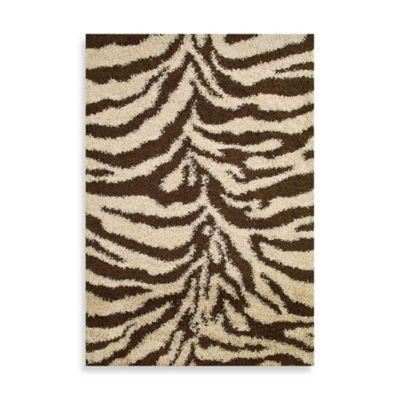 Shaggy Zebra 3 Foot 3 Inch X 4 Foot 7 Inch Rug