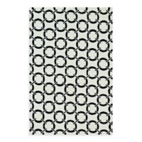 Loloi Rugs Charlotte 2-Foot 3-Inch x 3-Foot 9-Inch Indoor Rug in Ivory with Onyx