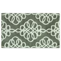 "Jessica Simpson 21"" x 34"" Marley Bath Rug in Grey/White"