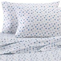 Coastal Life 300-Thread-Count Starfish King Pillowcases in Aqua (Set of 2)