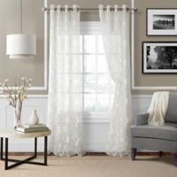 Sonata Trellis 95-Inch Grommet Window Curtain Panel in White