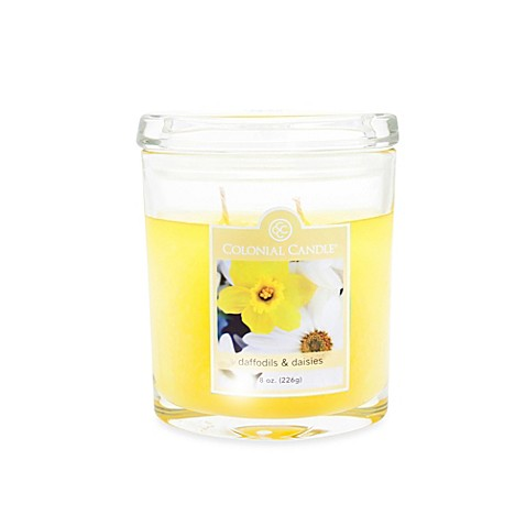 Colonial Candle® Medium Daffodils & Daisies 8-Ounce Oval Jar Scented Candle