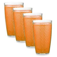Kraftware™ Fishnet 22 Oz. Doublewall Drinkware in Orange (Set of 4)