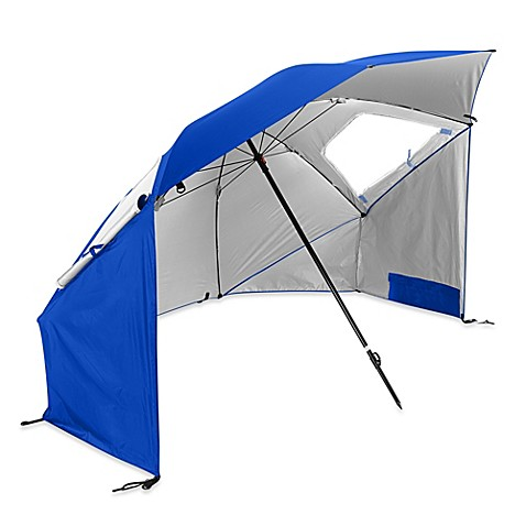 Sport Brella SUPER BRELLA Beach Umbrella In Blue Bed Bath amp Beyond