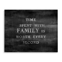 """""""Time Spent with Family"""" 10-Inch x 8-Inch Canvas Wall Art"""