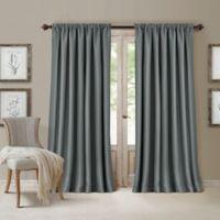 All Seasons 95-Inch Rod Pocket/Back Tab Room Darkening Window Curtain Panel in Dusty Blue
