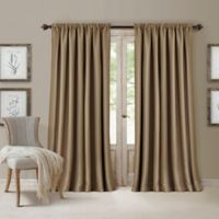 All Seasons 84-Inch Rod Pocket/Back Tab Room Darkening Window Curtain Panel in Antique Gold
