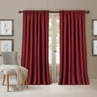 All Seasons 108-Inch Rod Pocket/Back Tab Room Darkening Window Curtain Panel in Rouge