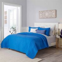 Trina Turk® Palm Desert Full/Queen Quilt Set in Blue Aster