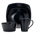 Noritake® Black on Black Swirl 4-Piece Square Place Setting