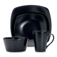 Noritake® Black on Black Snow 4-Piece Square Place Setting