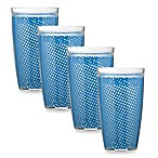 Kraftware™ Fishnet 22 Oz. Doublewall Drinkware in Blue (Set of 4)