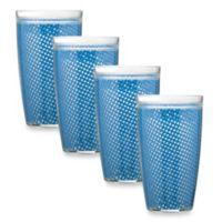 Kraftware™ Fishnet 22 Oz. Doublewall Drinkware in Blue (Set of 4)