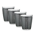 Kraftware™ Fishnet 14 Oz. Doublewall Drinkware in Black (Set of 4)