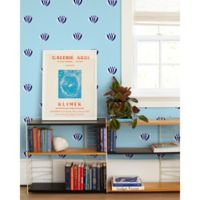 Lotus Removable Vinyl Wallpaper in Light Blue
