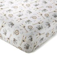 Levtex Baby® TAZA Safari Animal Cotton Fitted Crib Sheet