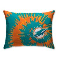 NFL Miami Dolphins Plush Tie Dye Standard Bed Pillow