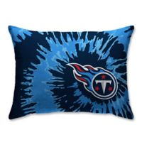 NFL Tennessee Titans Plush Tie Dye Standard Bed Pillow