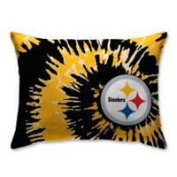 NFL Pittsburgh Steelers Plush Tie Dye Standard Bed Pillow