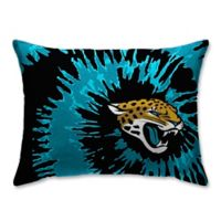 NFL Jacksonville Jaguars Plush Tie Dye Standard Bed Pillow