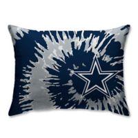 NFL Dallas Cowboys Plush Tie Dye Standard Bed Pillow