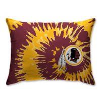NFL Washington Redskins Plush Tie Dye Standard Bed Pillow
