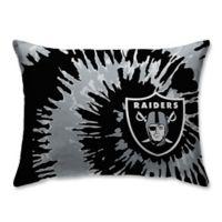 NFL Oakland Raiders Plush Tie Dye Standard Bed Pillow