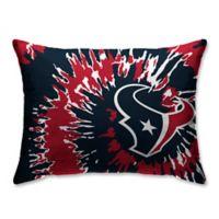 NFL Houston Texans Plush Tie Dye Standard Bed Pillow