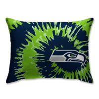 NFL Seattle Seahawks Plush Tie Dye Standard Bed Pillow
