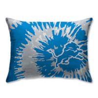 NFL Detroit Lions Plush Tie Dye Standard Bed Pillow