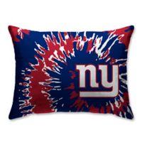 NFL New York Giants Plush Tie Dye Standard Bed Pillow