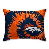 NFL Denver Broncos Plush Tie Dye Standard Bed Pillow