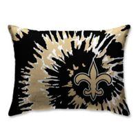 NFL New Orleans Saints Plush Tie Dye Standard Bed Pillow