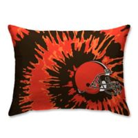 NFL Cleveland Browns Plush Tie Dye Standard Bed Pillow