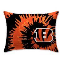 NFL Cincinnati Bengals Plush Tie Dye Standard Bed Pillow