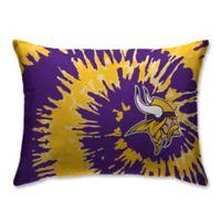 NFL Minnesota Vikings Plush Tie Dye Standard Bed Pillow
