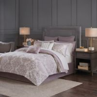 Madison Park Madeline Reversible Queen Comforter Set in Purple