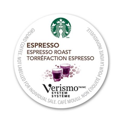 Verismo Coffee Maker Bed Bath And Beyond : Starbucks Verismo 16-Count Espresso Latte & Whole Milk Pods - Bed Bath & Beyond